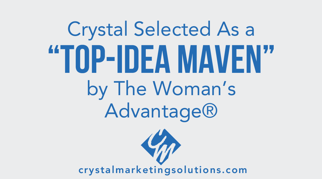 "Crystal Lee Butler Selected as a ""Top-Idea Maven"" by The Women's Advantage®"
