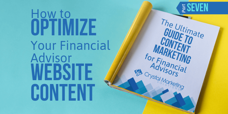 How to Optimize Your Financial Advisor Website Content